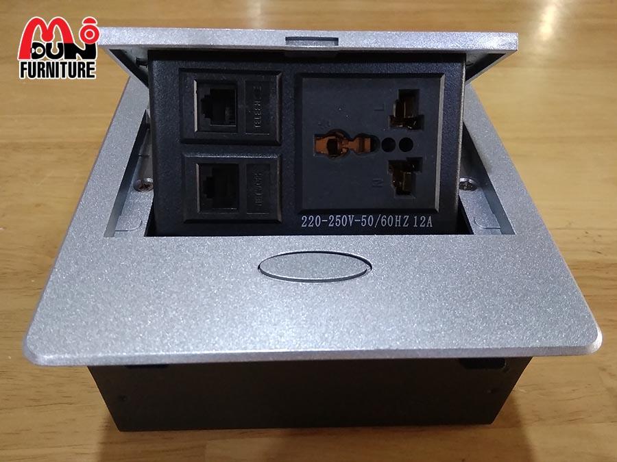 Hộp Điện Nhôm Âm Bàn HD-MD137-B