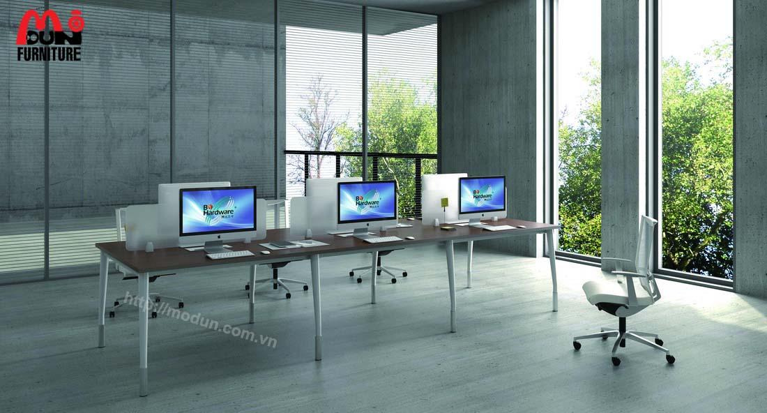 Bàn Văn Phòng Chân Sắt MD99 Workstation