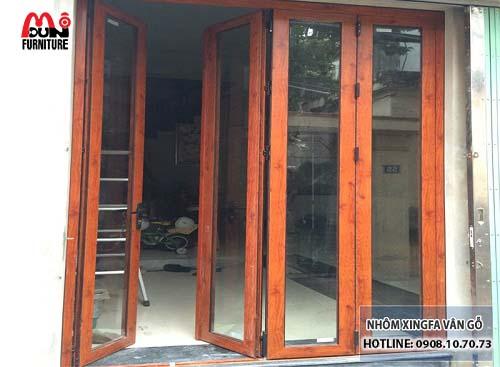 Cửa nhôm vân gỗ MD-NKVG