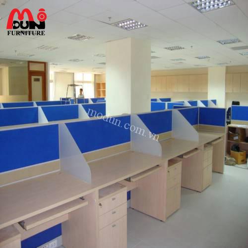 Vách ngăn văn phòng nỉ gỗ VVP-MD23